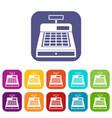 cash register icons set vector image vector image