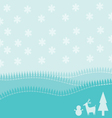 Christmas Landscape background vector image