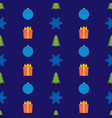 christmas semless pattern vector image