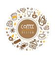 coffee banner original design shop cafe vector image vector image