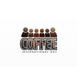 coffee international day colorful letter vector image