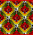 colorful bright floral paisley seamless pattern vector image
