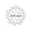 coronavirus cell 2019-ncov china pathogen vector image