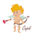cupid vintage mascot cupids arrow vector image