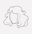 curly hair icon line element vector image