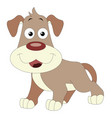 cute brown dog vector image