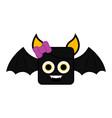 cute halloween bat cartoon character vector image