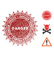 danger trends stamp with grunge style vector image vector image