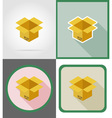 delivery flat icons 04 vector image vector image