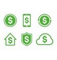 dollar logo icon vector image