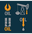 fall in oil prices set design template vector image vector image