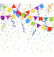 festive flags garlands and exploding paper bunting vector image vector image
