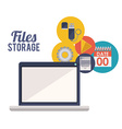 File storage design vector image