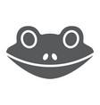 frog glyph icon animal and zoo amphibian sign vector image vector image
