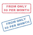 from only dollar 9 per month textile stamps vector image vector image