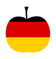 German Apple vector image vector image