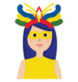 girl with brazilian carnaval oufit vestor on vector image
