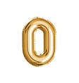 gold number zero air balloon for baby shower vector image vector image