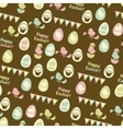 Happy Easter retro seamless pattern vector image