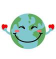 happy globe image vector image