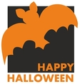 Happy Halloween party card with bat and wishes vector image vector image