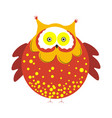 huge round owl with brown plumage with tassels on vector image vector image