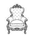 imperial baroque armchair with luxurious ornaments vector image vector image