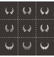 laurel wreaths icon set vector image