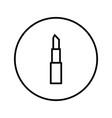 lipstick icon editable thin line vector image vector image