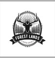 logo for hunting and adventure vector image