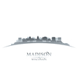Madison Wisconsin city skyline silhouette vector image vector image