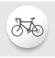 Minimalistic bicycle icon EPS10 vector image vector image