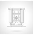 Morning tea time flat line icon vector image vector image