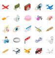 moving picture icons set isometric style vector image vector image