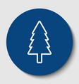 new year tree sign white contour icon in vector image vector image