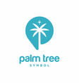 palm tree symbol logo template vector image vector image