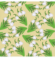 pattern with hand-drawn snowdrops vector image vector image