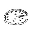 pizza napoletana icon doodle hand drawn or vector image vector image
