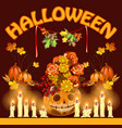 poster on theme of halloween holiday party or vector image