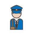 postman avatar icon on white backgroundai vector image vector image