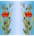 Red poppy in blue style vector image vector image