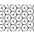 Rough drawing styled futuristic hexagonal seamless vector image vector image