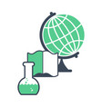 science logo emblem for scientific laboratory vector image