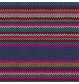 Seamless Ethnic Color Striped Knitted Pattern vector image vector image