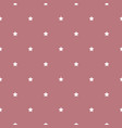 seamless star pattern white stars on a pink vector image
