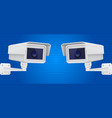 security camera set cctv surveillance system on vector image