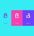 set letter s eszett ligature minimal logo icon vector image