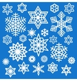Set of different white snowflakes icons vector image vector image