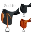 Set of equesrtian equipment for horse vector image
