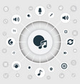 set of simple music icons elements note partymaker vector image